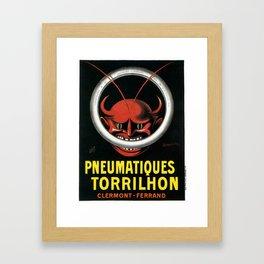 Vintage poster - Pneumatiques Torrilhon Framed Art Print