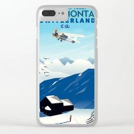 crans-montana Switzerland. Clear iPhone Case