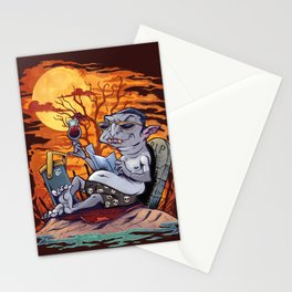 Vampire At The Beach  Stationery Cards