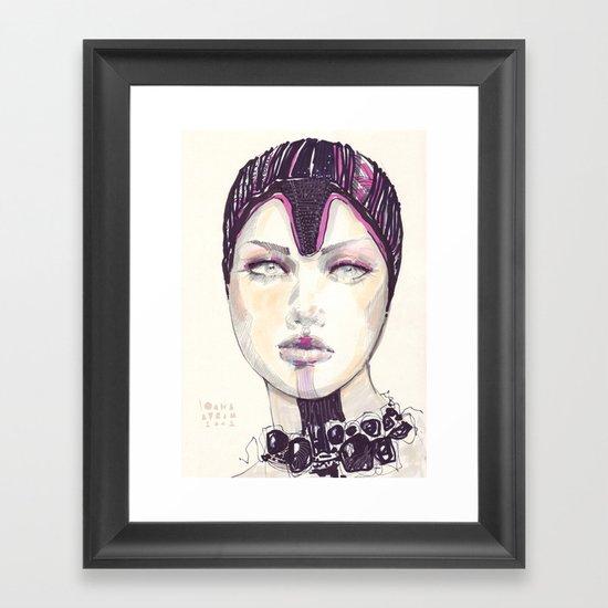 Fashion illustration  Framed Art Print