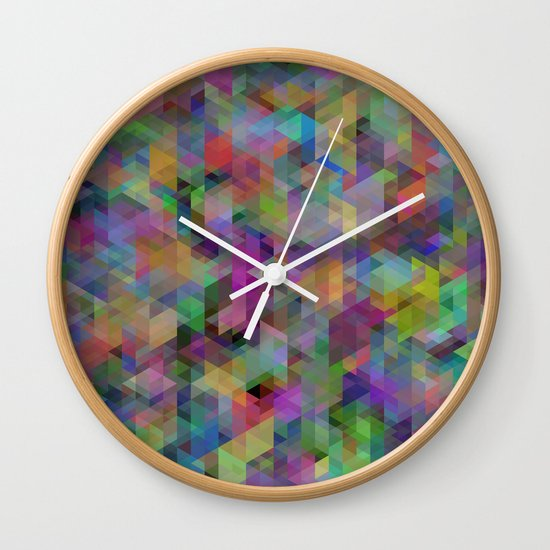 Panelscape - #11 society6 custom generation Wall Clock
