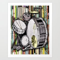Drum Kit Art Print