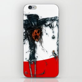 pumpkin man iPhone Skin