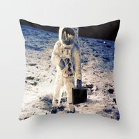 lawyer Throw Pillows featuring Astronaut lawyer  by rivercbishop