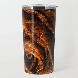 Burning Grunge Rose Travel Mug