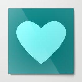 Heart No. 1 -- Cyan Metal Print