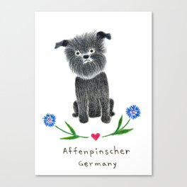 A is for Affenpinscher Canvas Print