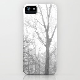 Black and White Forest Illustration iPhone Case