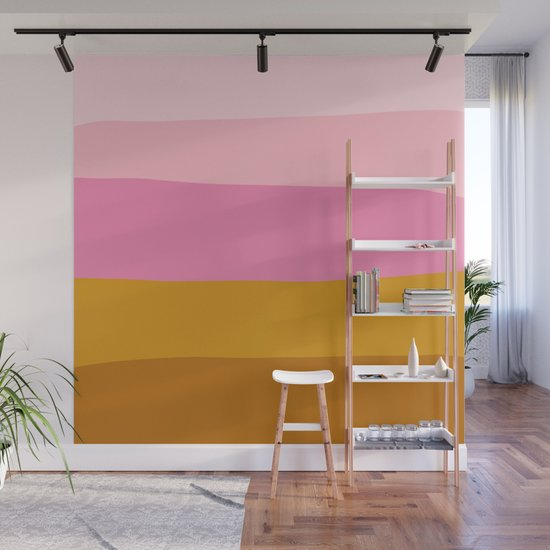 Abstract Organic Color Blocking in Pink and Honey Gold by junejournal