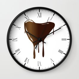 Melting Chocolate Heart Wall Clock