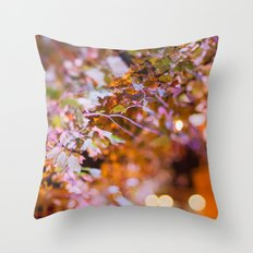 Nature and light abstract Throw Pillow