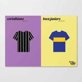 Corinthians x Boca Juniors Canvas Print