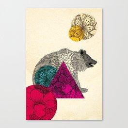 Suny bear Canvas Print