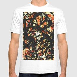 Jackson Jackson Pollock style, digitally modified, fine art decor and clothing T-shirt