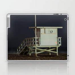 Life Guard Tower Night Beach Seascape Ocean View Colored Wall Art Print or Wall Canvas Print Laptop & iPad Skin