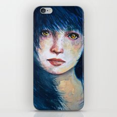 Blue hair iPhone & iPod Skin