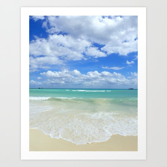 Playa Del Carmen Beach Art Print