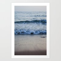 Retreating Sea Art Print