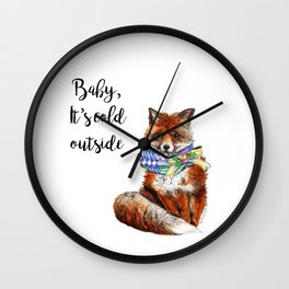 It's cold outside Wall Clock