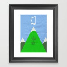 The Sound of Music Framed Art Print