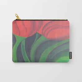 Red Tulip Diptych Carry-All Pouch