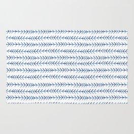 Watercolor Indigo Arrows Rug
