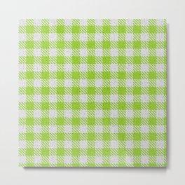 Yellow Green Buffalo Plaid Metal Print