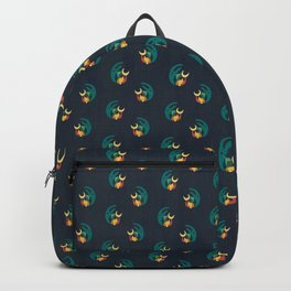 Rabbit and crescent moon Backpack