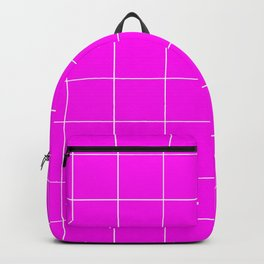 Graph Paper (White & Magenta Pattern) Backpack