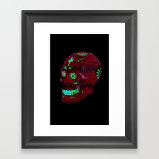 Grunge Skull Framed Art Print