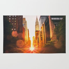 NYC Skyline Sunset Rug