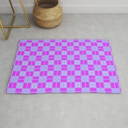 Violet Purple Cell Checks Rug