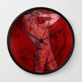nude man Wall Clock