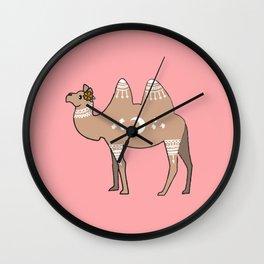 Mandala Camel Wall Clock