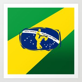 lets dance brazilian zouk flag design Art Print