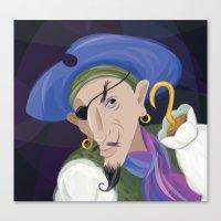 captain hook Canvas Prints featuring Captain Hook by WINN CREATIVE