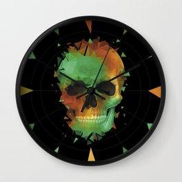 Geometry Reconstruction Skull Wall Clock