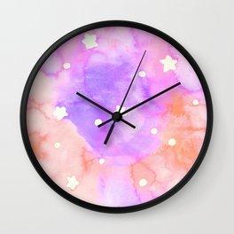 Starry Sky Raspberry Milkshake Wall Clock