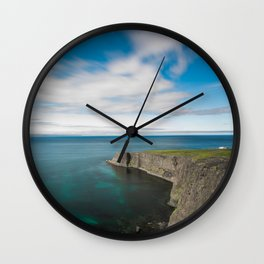 House by the Sea Wall Clock