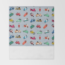 Boogie On Scooters Throw Blanket