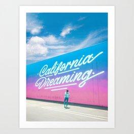 California Dreaming - Good Cali Vibes Art Print