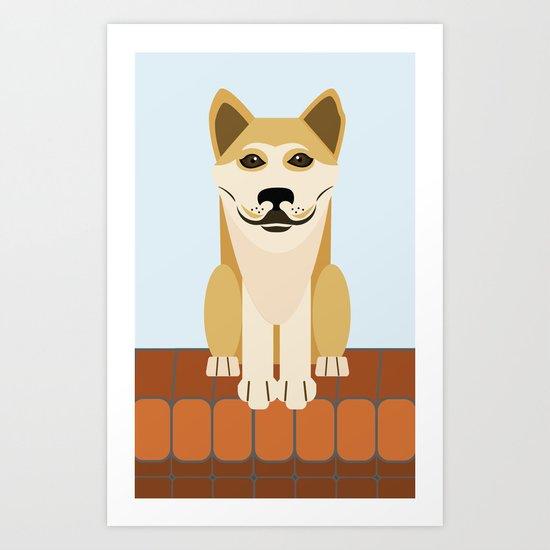 Shiba dog vector Art Print