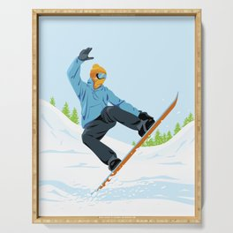 Snowboarder Serving Tray