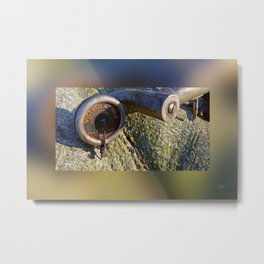 Talking Machine Silent Stories - Border Blur - 5a Metal Print