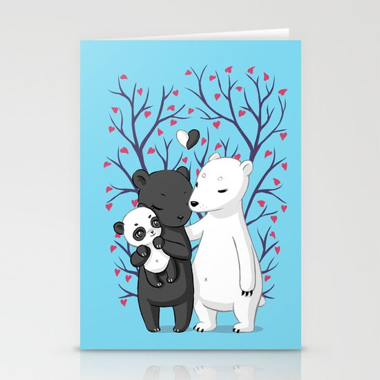 Bear Family Stationery Cards