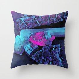 Gem Stones & Sage Throw Pillow