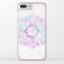 Winter Fiery Mandala Clear iPhone Case