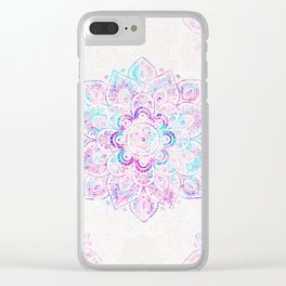 Winter Fiery Mandala Clear iPhone Case