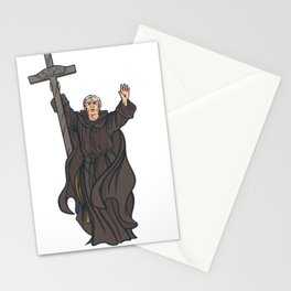 Moench mit Kreuz Stationery Cards