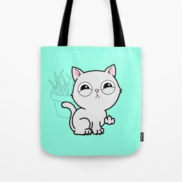 Kitty Knows Sign Language Tote Bag